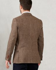 Gold Herringbone Tweed Magee Blazer