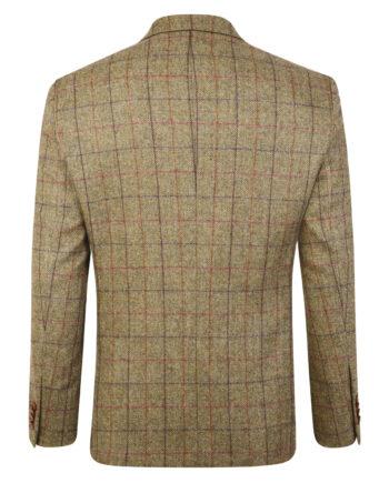 Camel Check Herringbone Donegal Tweed Blazer
