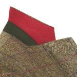 Camel Check Herringbone Donegal Tweed Blazer