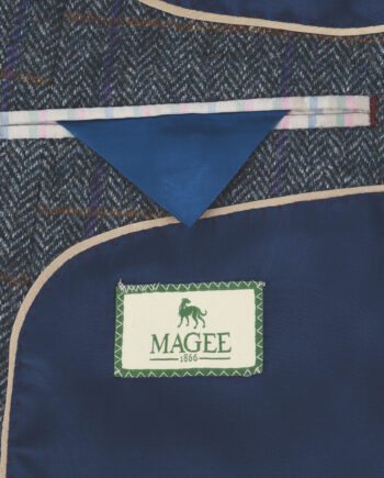 Grey Checked Donegal Tweed Blazer