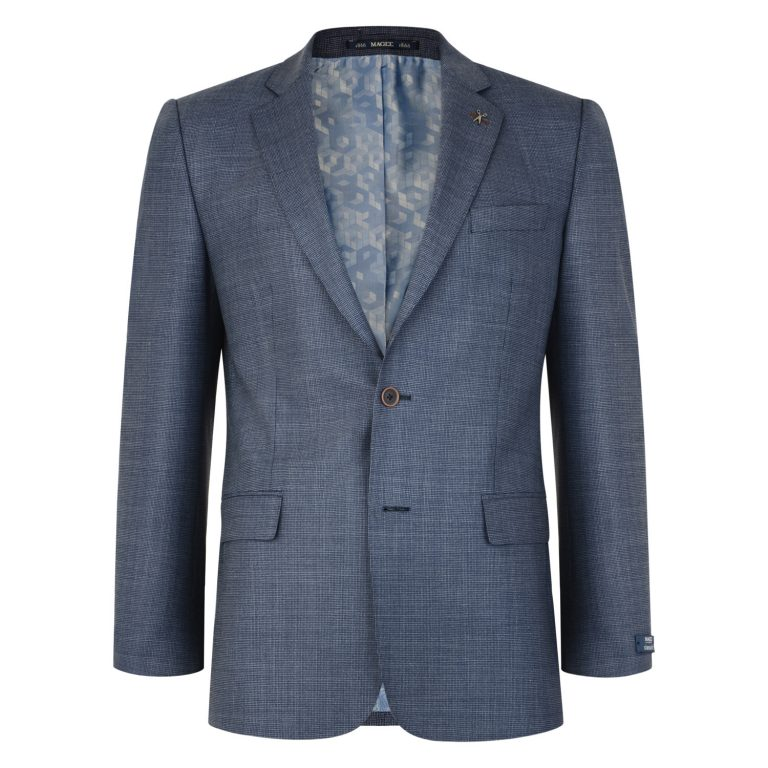 Steel Blue Magee Tweed 2 Piece Suit