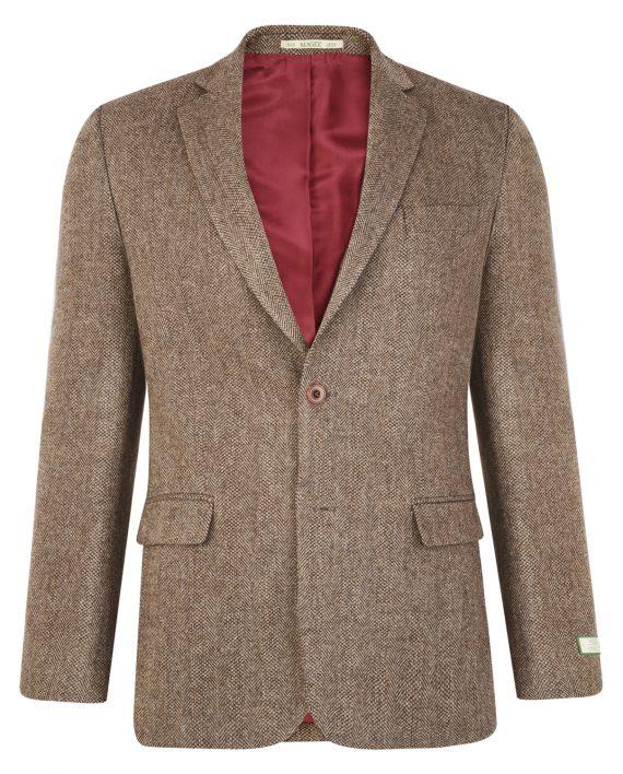 Tan Herringbone Donegal Tweed Blazer