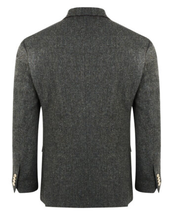 Charcoal Donegal Weave Tweed Blazer