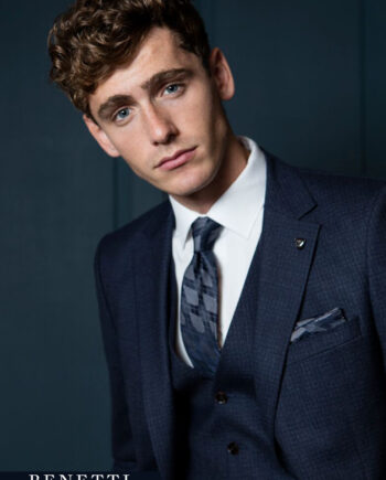 Harlow Navy 3 Piece Suit by Benetti