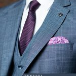 Hublot Pale Blue Checked Suit by Benetti