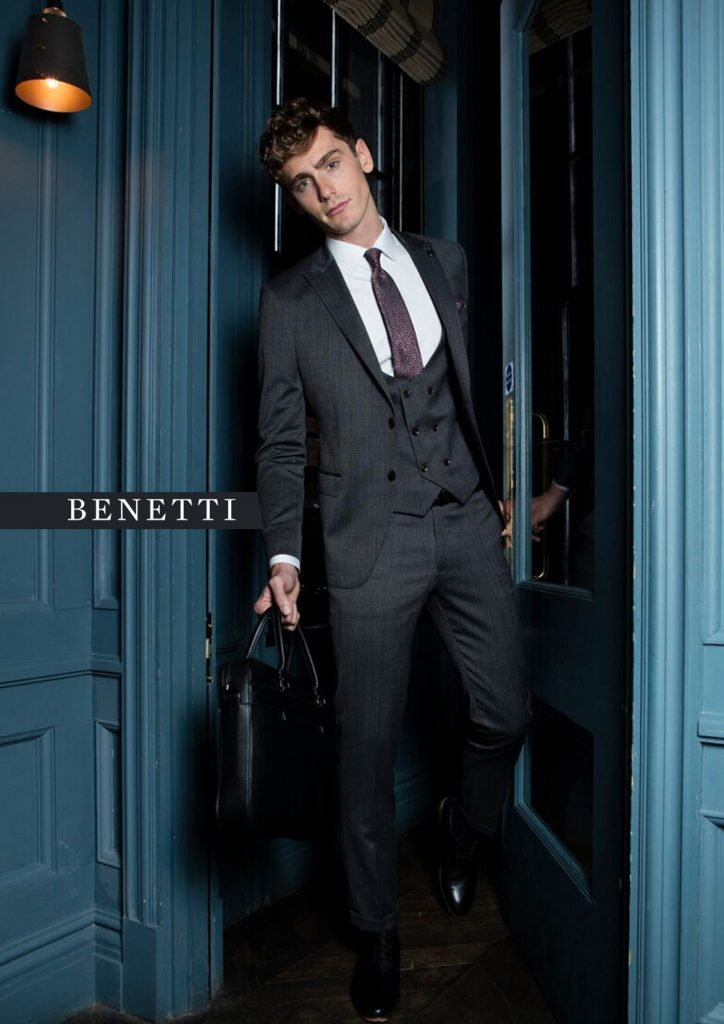 Leeds Grey 3 Piece Suit by Benetti