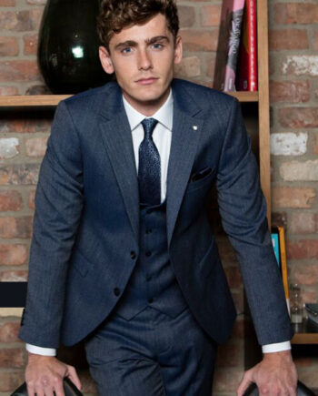 Leeds Petrol Blue 3 Piece Suit by Benetti