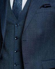 Leeds Petrol Blue 3 Piece Suit by Benetti