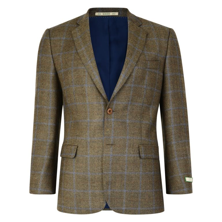 Green with Blue Check Tweed Blazer