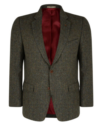 Green Salt & Pepper Donegal Tweed Jacket