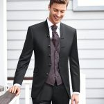 Black 5 Button 3 Piece Wedding Suit