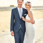 Blue Crystal 3 Piece Wedding Suit