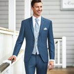 Hazy Blue 3 Piece Wedding Suit