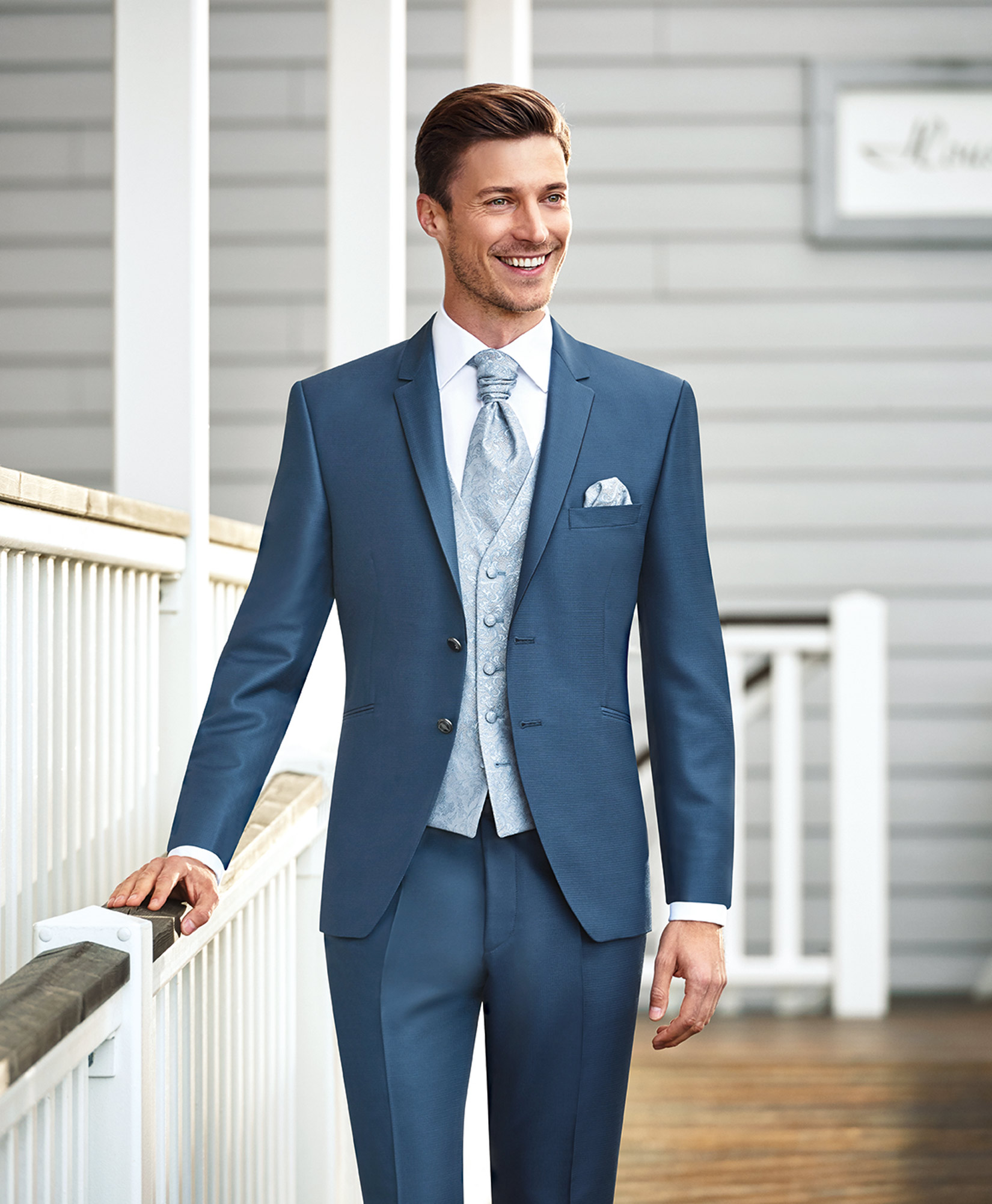 Hazy Blue 3 Piece Wedding Suit - Tom Murphy\'s Formal and Menswear