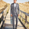 Grey Sheen 3 Piece Wedding Suit