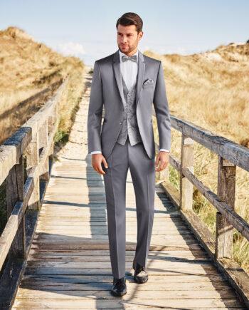 Grey Sheen 3 Piece Wedding Suit
