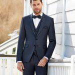 Midnight Blue Trend 3 Piece Wedding Suit