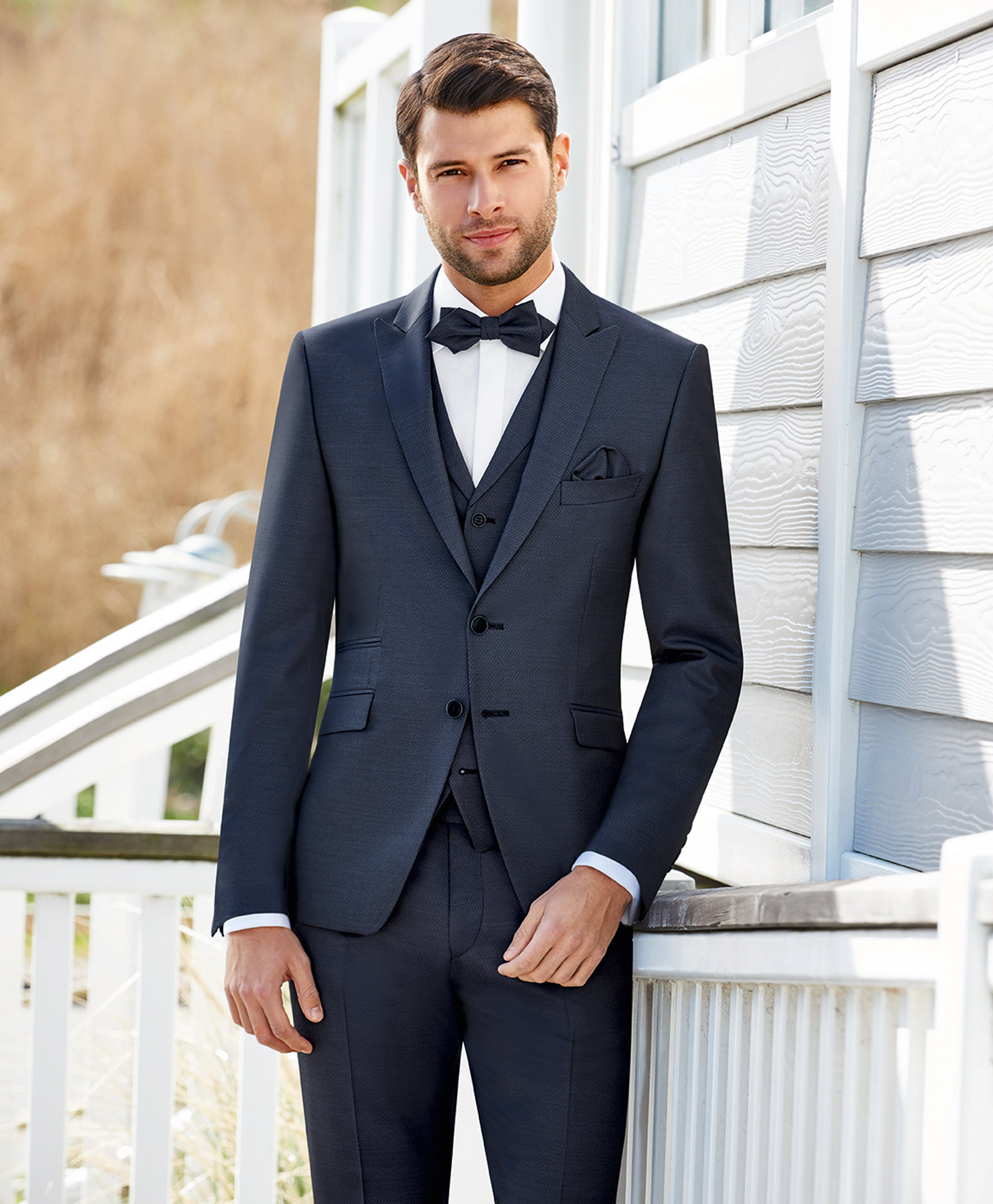 Midnight Blue Trend 3 Piece Wedding Suit - Tom Murphy\'s Formal and ...