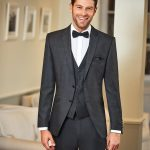 Dark Grey Slim Line 3 Piece Wedding Suit