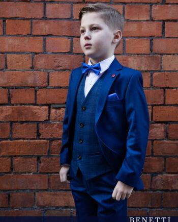 Sienna Admiral Blue 3 Piece Boys Suit
