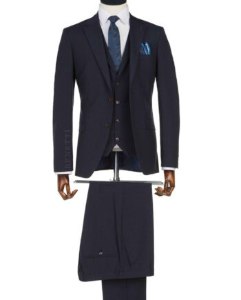 Edward Navy Check suit