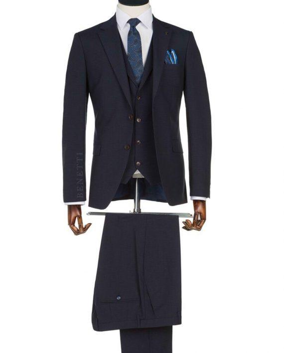 Edward Navy Check suit
