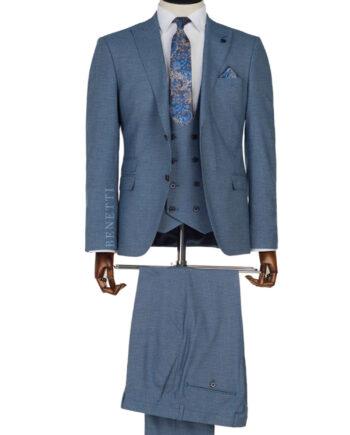 Dice Blue Tweed 3 Piece