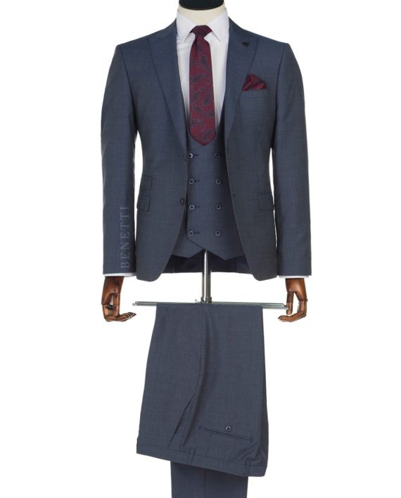 Hazard Navy Suit by Benetti
