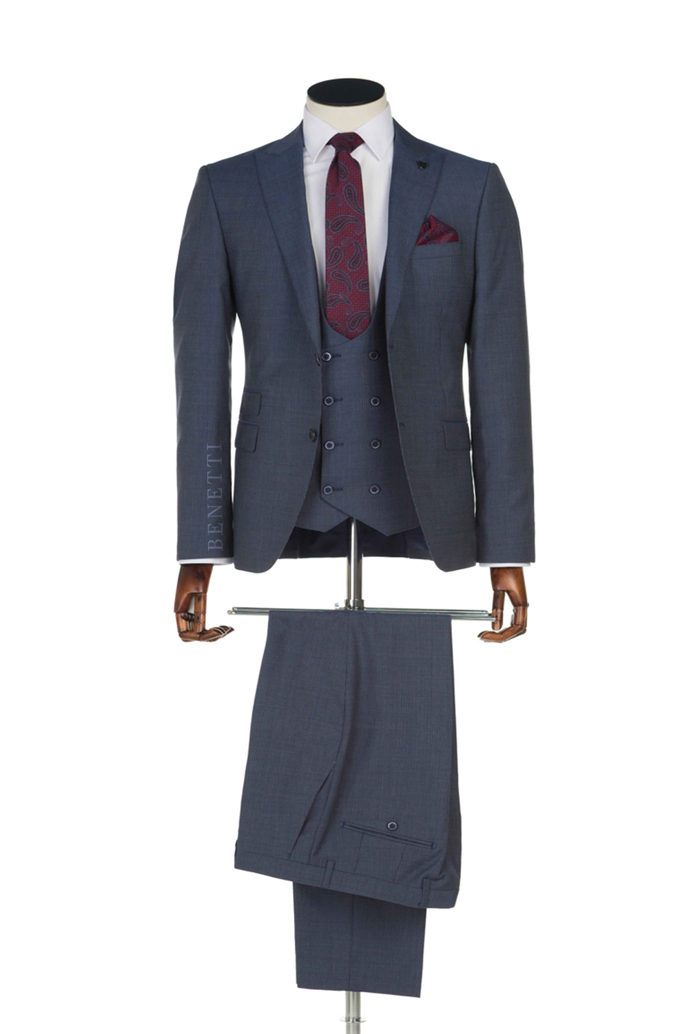 Hazard Navy Suit by Benetti