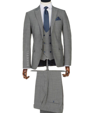 Messi Grey Tweed suit