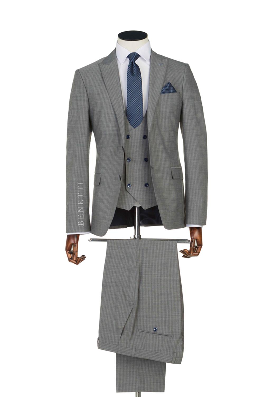 Messi Grey Tweed suit