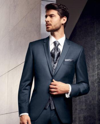 Prestige Blue Mohair 3 Piece Suit
