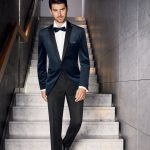 Prestige Blue Velvet 2 Piece Suit