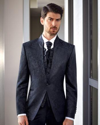 Prestige Jacquard 1 button 3 Piece Wedding Suit