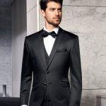 Prestige Black Trend 3 Piece Wedding Suit