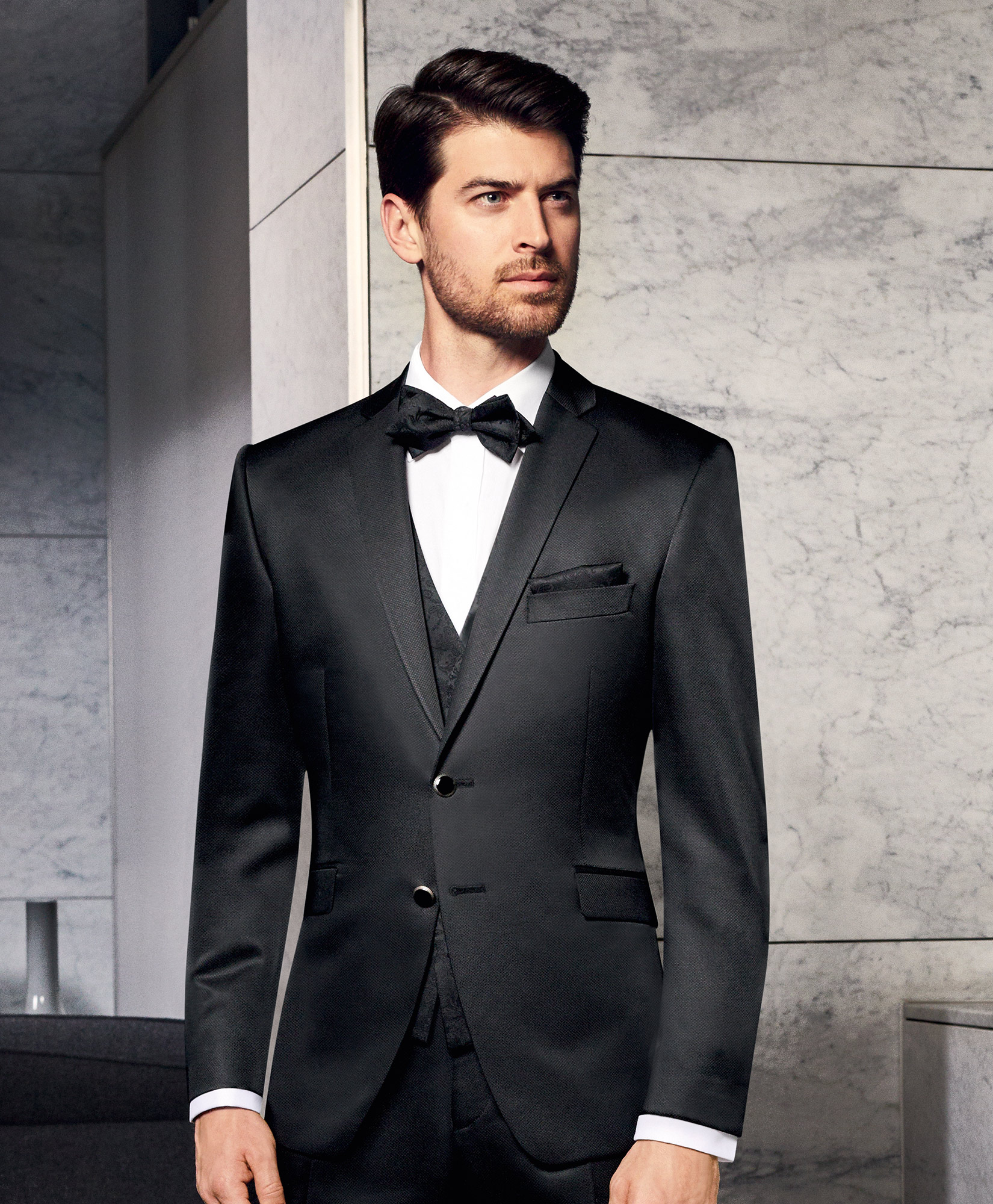 Prestige Black Trend 3 Piece Wedding Suit - Tom Murphy\'s Formal ...