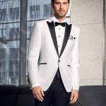 Prestige Black and White Combination 2 Piece Suit