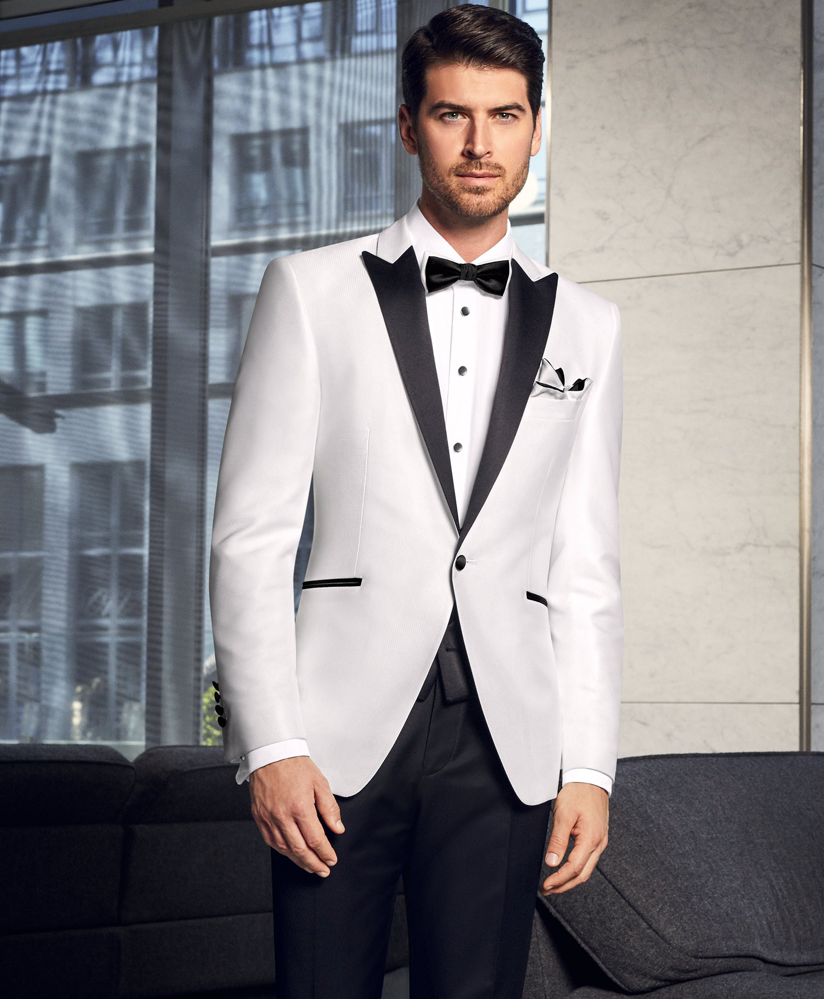 Prestige Black And White Combination 2 Piece Suit Tom Murphy S