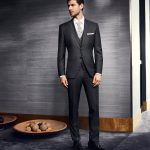Prestige Dark Grey Pure Wool  3 Piece Suit