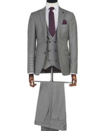 Ronaldo Grey 3 Piece Suit