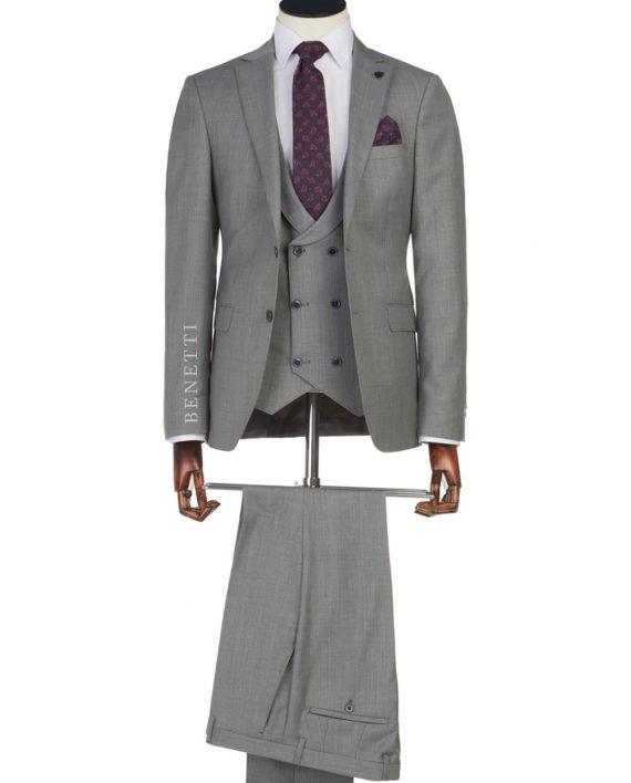 Ronaldo Grey 3 Piece Suit