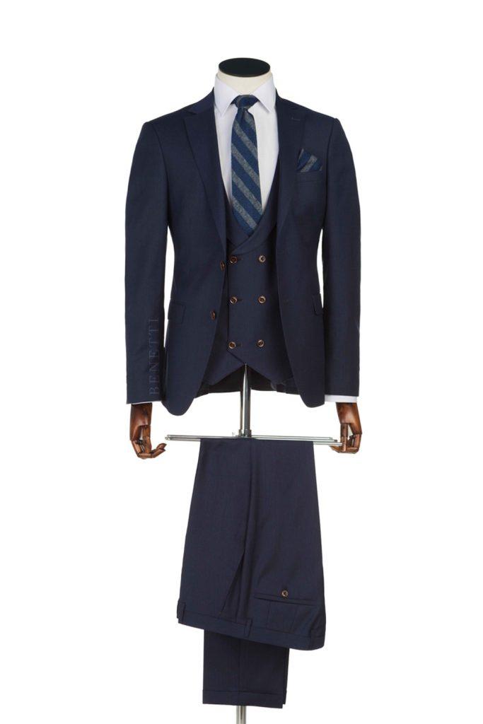 Ronaldo Navy 3 Piece suit
