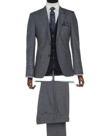 Rooney Grey Navy Tweed