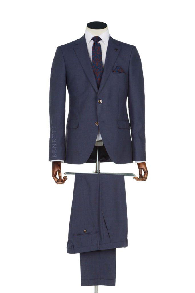 Rooney Navy 3 Piece Suit