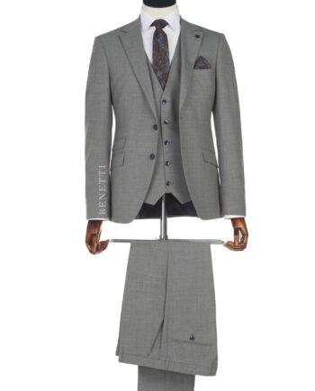 Sergio Grey Tweed 3 Piece suit