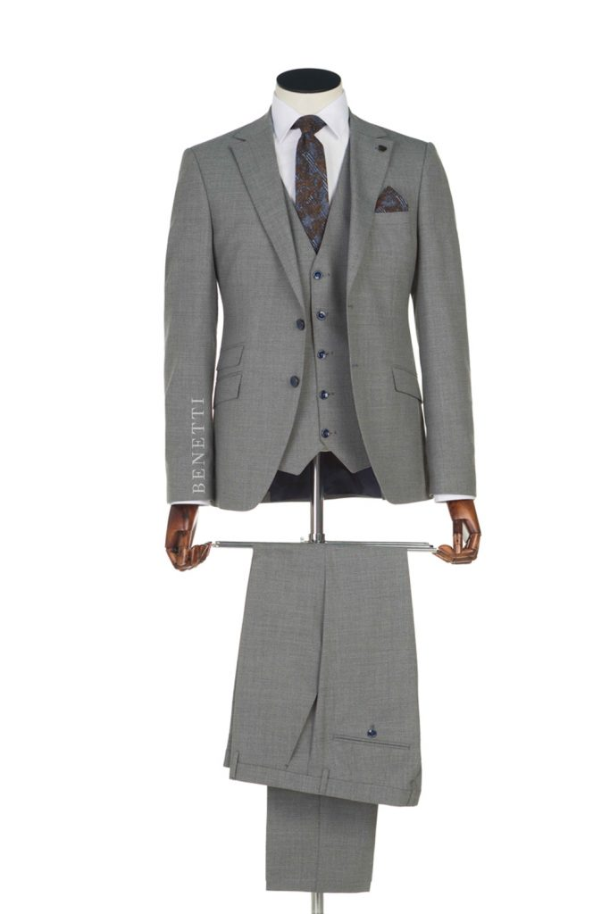 Sergio Grey Tweed 3 Piece suit