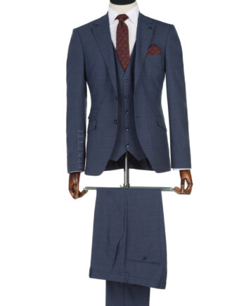 Navy Tweed 2 Button Suit