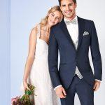 Tziacco Blue Wool blend 3 Piece Wedding Suit