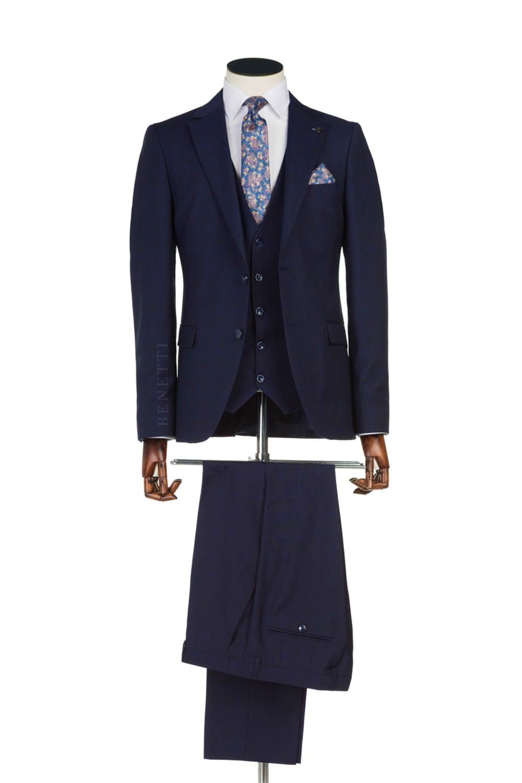 Vidic Navy Tweed Suit