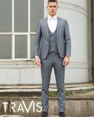 Xavi Grey 3 Piece Suit